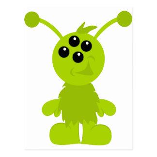 Little Monster Alien Creatures Postcard