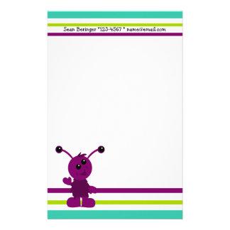Little Monster Alien Creatures Stationery Paper