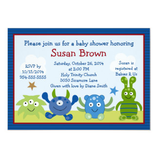 Little Monster Babies Baby Shower Invitation
