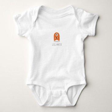 Halloween Themed Little Monster Baby Jersey Bodysuit
