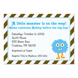 Little Monster Baby Shower Invitation