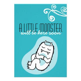 Little Monster Baby Shower Invitation boy