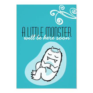 Little Monster Baby Shower Invitation (boy)