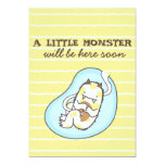 "Little Monster Baby Shower Invitation (boy) 5"" X 7"" Invitation Card"