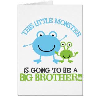 Little Monster Big Brother T-shirt Greeting Card