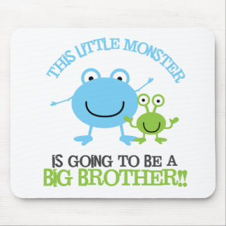 Little Monster Big Brother T-shirt Mouse Pad