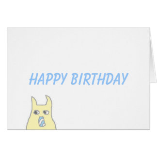 Little Monster Birthday Card Greeting Card