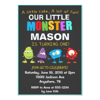 Little Monster Birthday Party Invitation