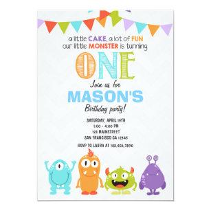 monster birthday invitations zazzle