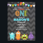 "Little Monster Birthday Party Invitation Chalk<br><div class=""desc"">♥ A perfect way to invite your guests to your little one&#39;s birthday party!</div>"