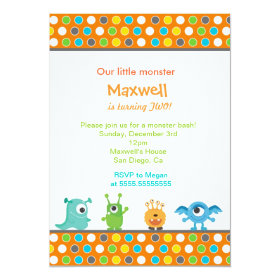 Little Monster Birthday Party Invitations 5