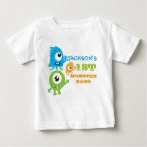 Little monster birthday t-shirt, first birthday baby T-Shirt