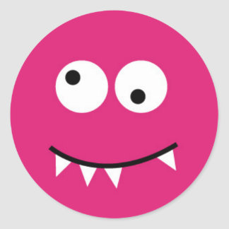 Little Monster Classic Round Sticker