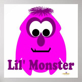 Little Monster Fuscia Fran Lil' Monster Print
