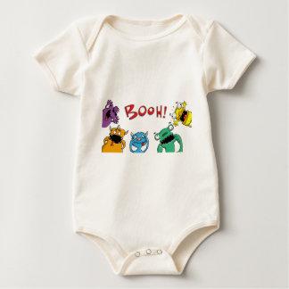 Little monster grimaces roofridge day RK school fu Baby Bodysuit