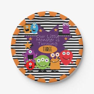 Little Monster Happy Birthday Paper Plates