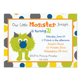 Little Monster Invitation