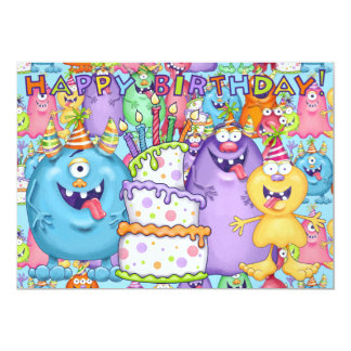 "Little Monster Invitation 2 - SRF 5"" X 7"" Invitation Card"