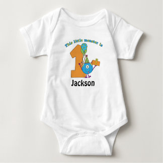 Little Monster Kids 1st Birthday Personalized Baby Bodysuit
