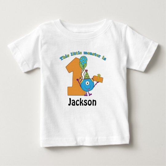 Little Monster Kids 1st Birthday Personalized Baby T Shirt