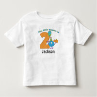 Little Monster Kids 2nd Birthday Personalized Toddler T-shirt