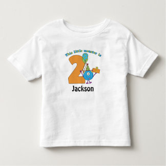 Little Monster Kids 2nd Birthday Personalized Tshirts