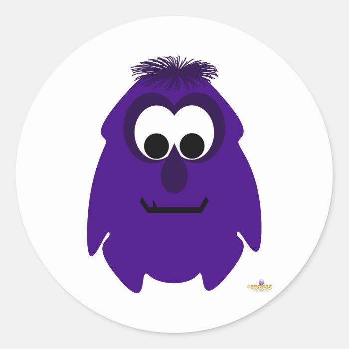 Little Monster Manfred Classic Round Sticker