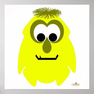 Little Monster Mollie Mustard Poster