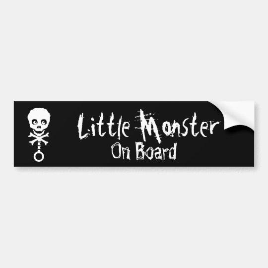 Little Monster On Board Bumper Sticker