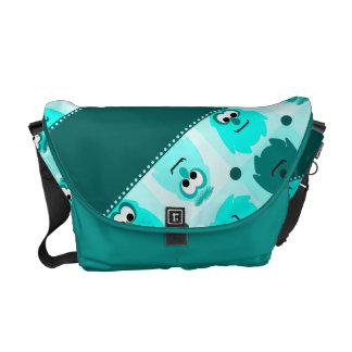 Little Monster Pattern Rickshaw Bag Messenger Bag