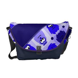 Little Monster Pattern Rickshaw Bag Messenger Bags