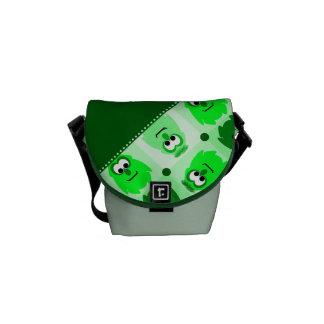 Little Monster Pattern Rickshaw Bag Courier Bags