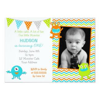Little Monster Photo Birthday Invitations