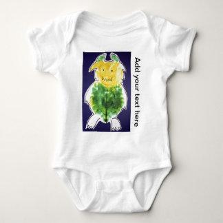 Little Monster - portrait template design Baby Bodysuit