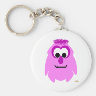 Little Monster Rosey Basic Round Button Keychain