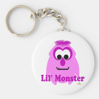 Little Monster Rosey Lil' Monster Basic Round Button Keychain