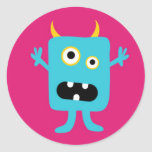 Little Monster Round Stickers