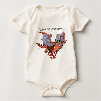 Little Monster Screechin' Bombanat Baby Bodysuit