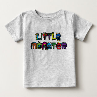 Little Monster -Text Doodles (Bright) Baby T-Shirt