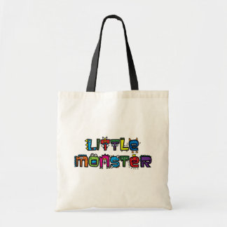 Little Monster -Text Doodles (Bright) Tote Bag