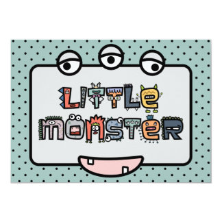 Little Monster -Text Doodles & Face (Pastels) Card
