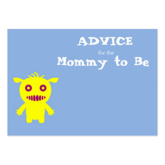 Little Monsters Advice for the Mommy to Be Cards Large Business Cards (Pack Of 100)