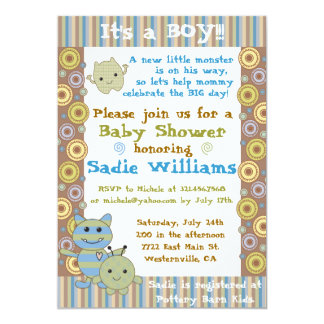 Little Monsters Baby Shower Invitation