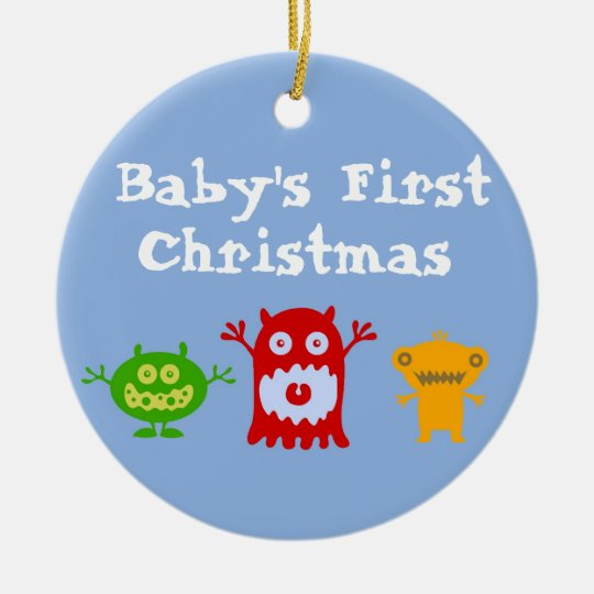 babys first christmas ornament diy baby homemade little monsters 2017