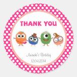 Little Monsters Birthday Sticker