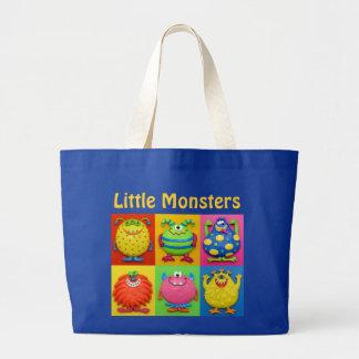 """Little Monsters Diaper Bag"" Large Tote Bag"