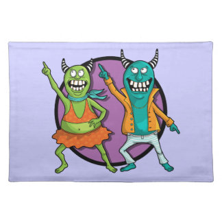 Little Monsters Disco Dancing Party! Placemat