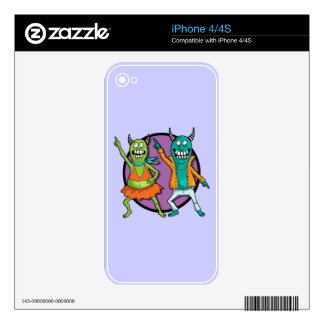 Little Monsters Disco Dancing Party! Skins For The iPhone 4