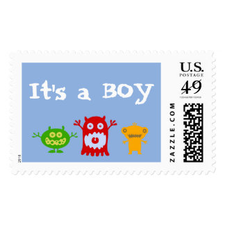 Little Monsters It's a Boy Stamps