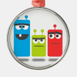 Little monsters metal ornament